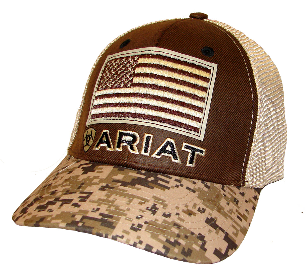 Ariat Digital Camo/Flag Ballcap