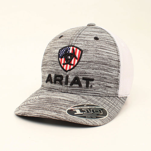 Ariat USA Grey/White Ballcap