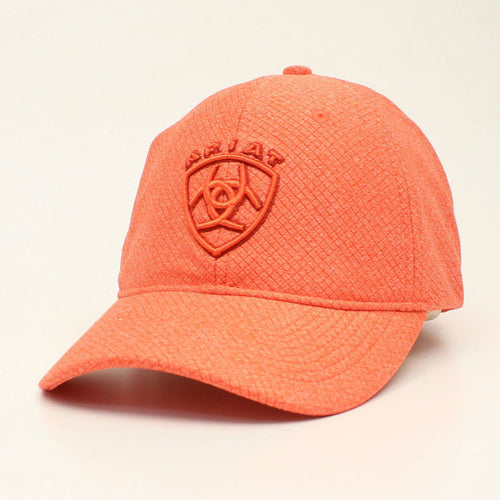 Ariat Ladies Orange Logo Ballcap