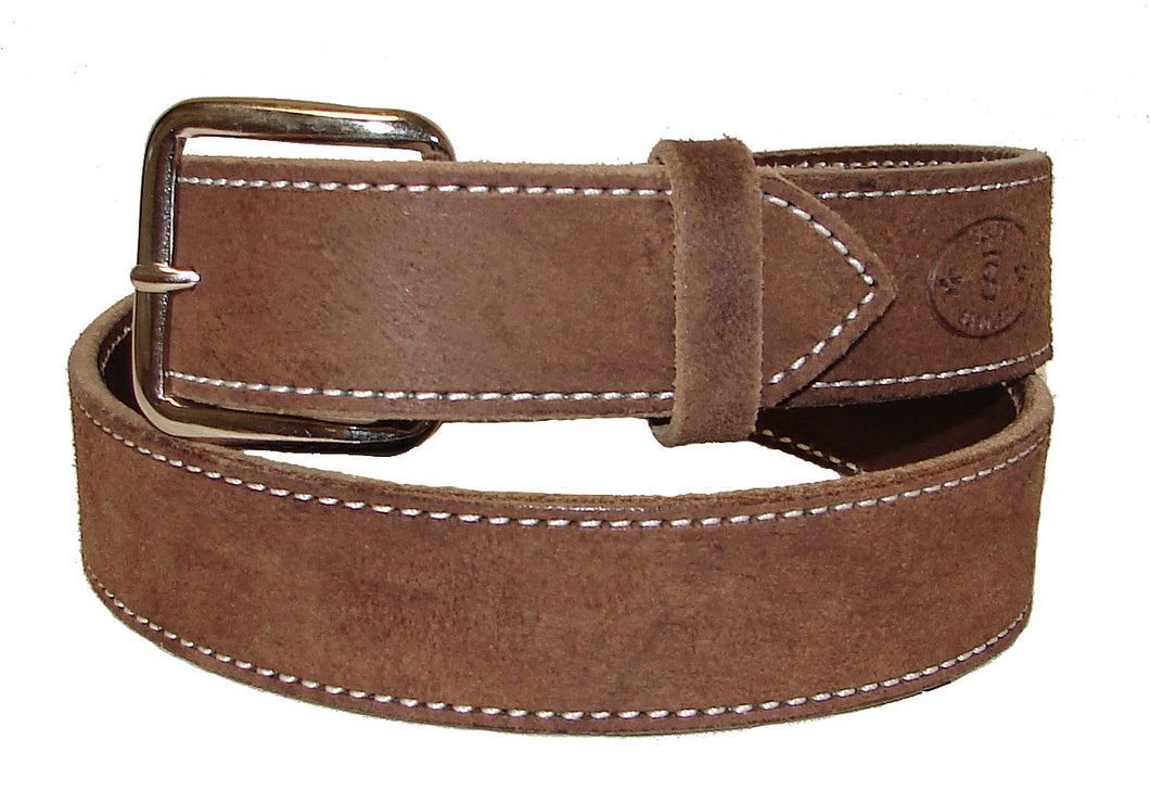 Texas Saddlery Brown Rough Out Belt