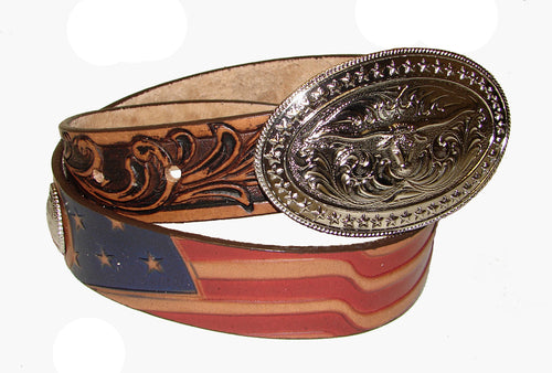 Tony Lama Tan American Belt