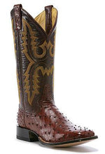 Rod Patrick Cowboy Classic Almond Full Quill Ostrich Boots