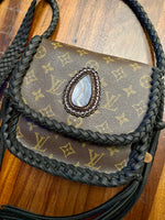 LAV Original Saint Cloud MM Noir Braided w/50ct. Druzy
