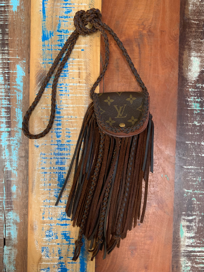 LAV Made To Order LAV Original Fringe Coin Purse Chocolate