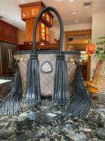 255ct. Silicone Coated Druzy Noir LAV MM Neverfull