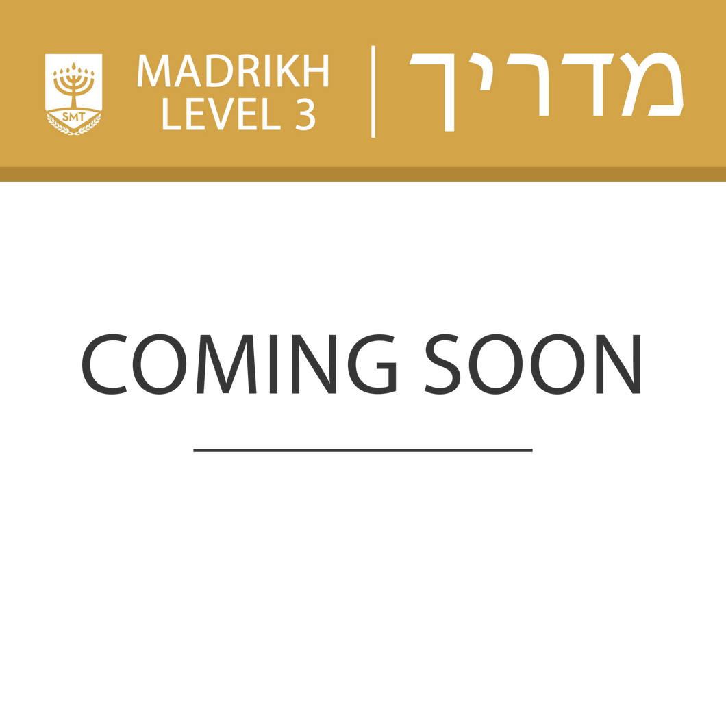 Level 3 - Madrikh (Certificate)