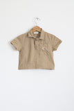 Camel Seersucker Stretch-cotton Polo Shirt