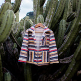 Striped Rustic Cotton Worker Jacket