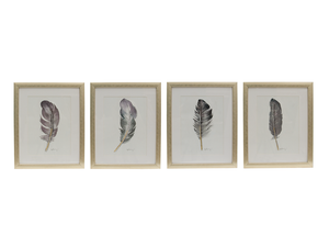 Giclee feathers set 4 - Muebles Pergo