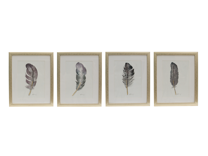 Giclee feathers set 4