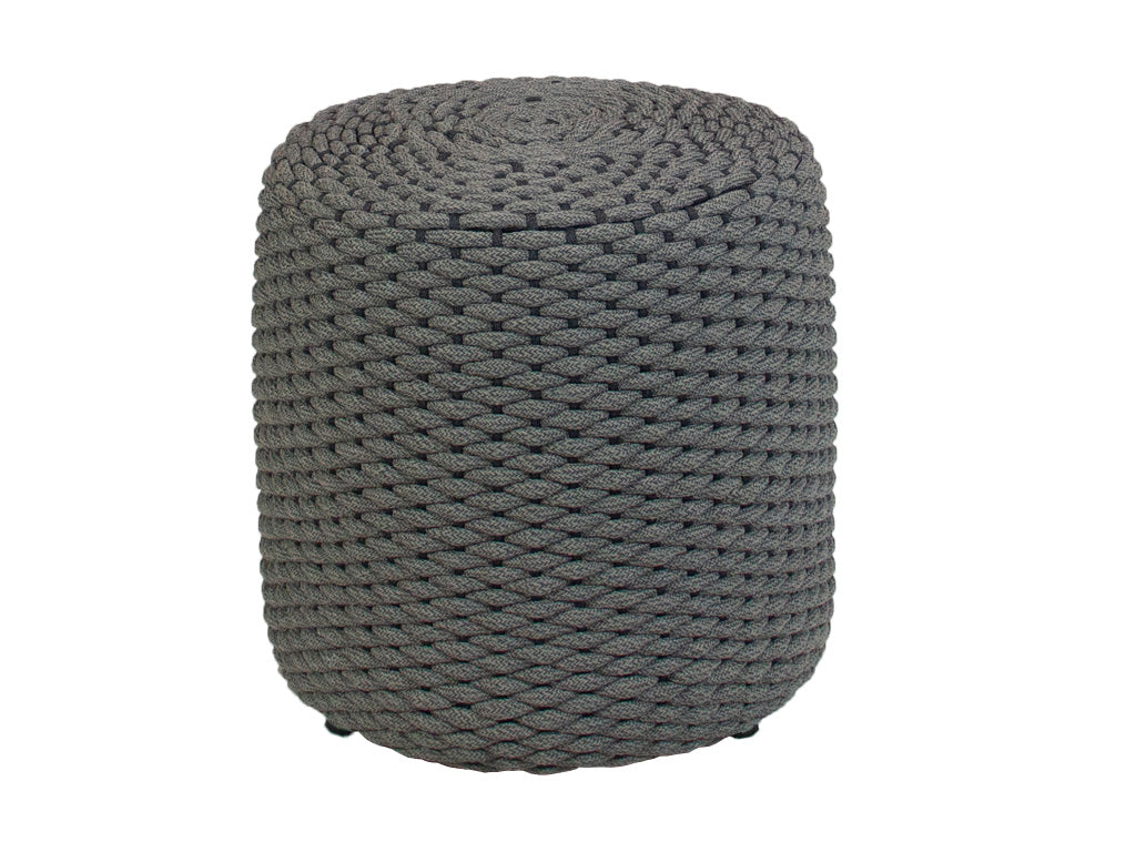 Muffin rope puff color gris - Muebles Pergo
