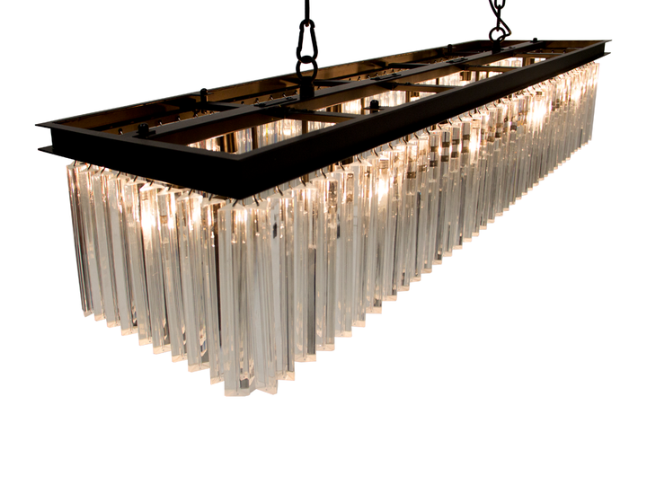 Candil Luxemburgo Rectangular. 10 Luces