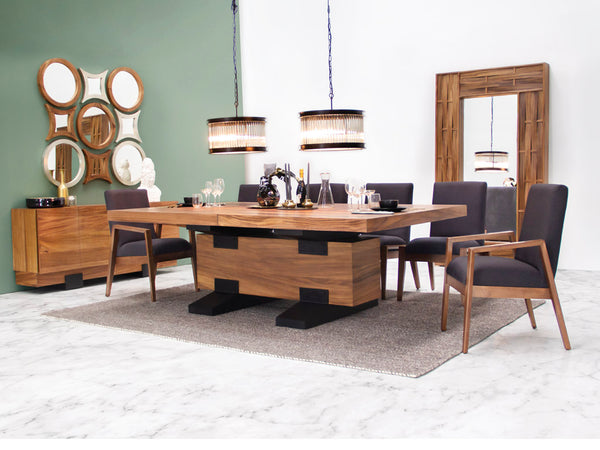 Set Mesa Oxford + Sillas + Sillones Perugia