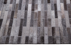 Tapete Cow Hide Rug Brick Dark Grey - Muebles Pergo