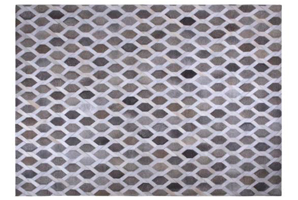 Tapete Cow Hide Rug Chain LT GREY - Muebles Pergo