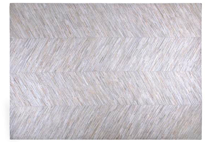 Tapete Cow Hide Fino Light Grey
