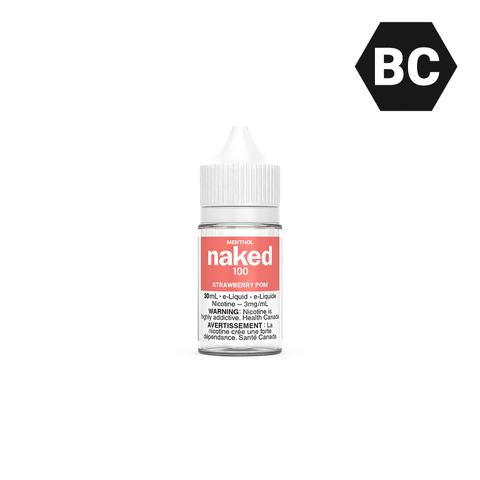 Naked 100 Menthol Strawberry Pom (30ml)