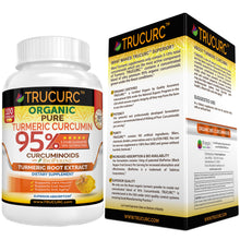 TRUCURC - The Most Potent Organic Certified Turmeric Curcumin on Earth – 100 Vegan Capsules
