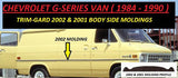 2002-32  Van Molding (Black Wings)