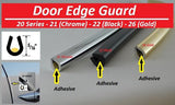 22-50  Door Edge Molding U-Style / Large (Black)