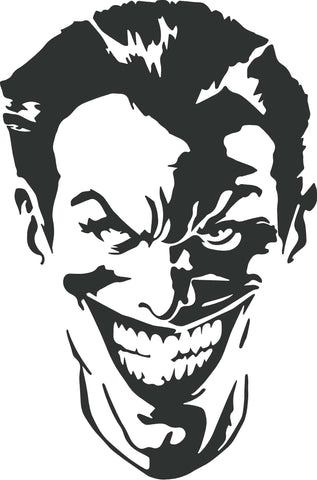 Joker Head Decal  #3542