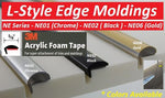 NE01-50  L-Style Door Edge Chrome (3M Acrylic Adhesive)