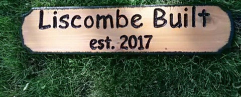 Engraved Cedar Wood sign (6 in.high X 24 in. long)