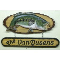 Largemouth Bass Plaque with dropdown