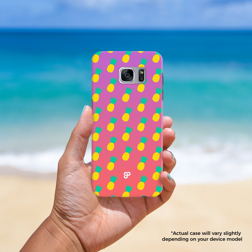 Fun & Fruity - The Salty Pineapple Shop - Samsung Galaxy Phone Case Samsung Galaxy S3 / S4 / S5 / Note 4 / S6 Edge / Note 3 Neo / Grand 2 / Grand Prime / E7 / Note 7 / S7 Edge / S7 / S8 / S8 Plus - Pineapples Pineapple Fun Fruit Pattern Yellow Green Design Cute Colourful Tropical Beach Purple Pink Gradient Fade Sunset Color Bright Fun Happy
