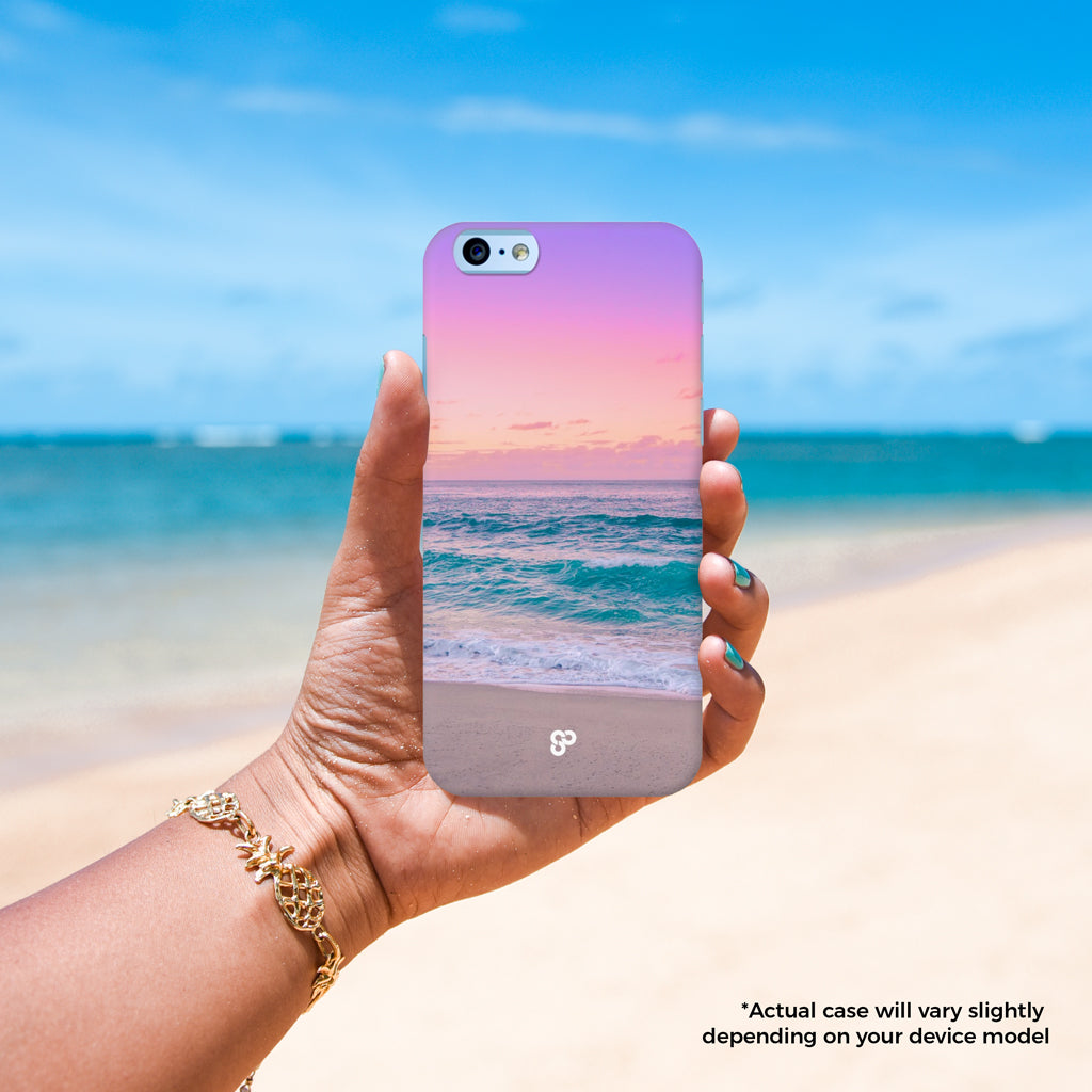 Ocean Dreams - The Salty Pineapple Shop - iPhone Case SE / 5 / 5S / 5C / 6 / 6 Plus / 6S / 6S Plus / 7 / 7 Plus - Hawaii Waikiki Surf Sunset Waves Tropical Beach Colourful Photography Poster Modern Coastal Ocean Gift Blue Purple Pink Sea Turquoise Fun Happy Summer Relaxing Calm