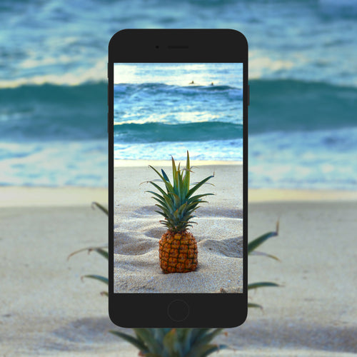 Sandy Pineapple - Phone Wallpaper