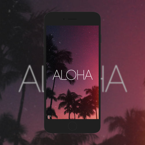 Aloha Palms - Phone Wallpaper