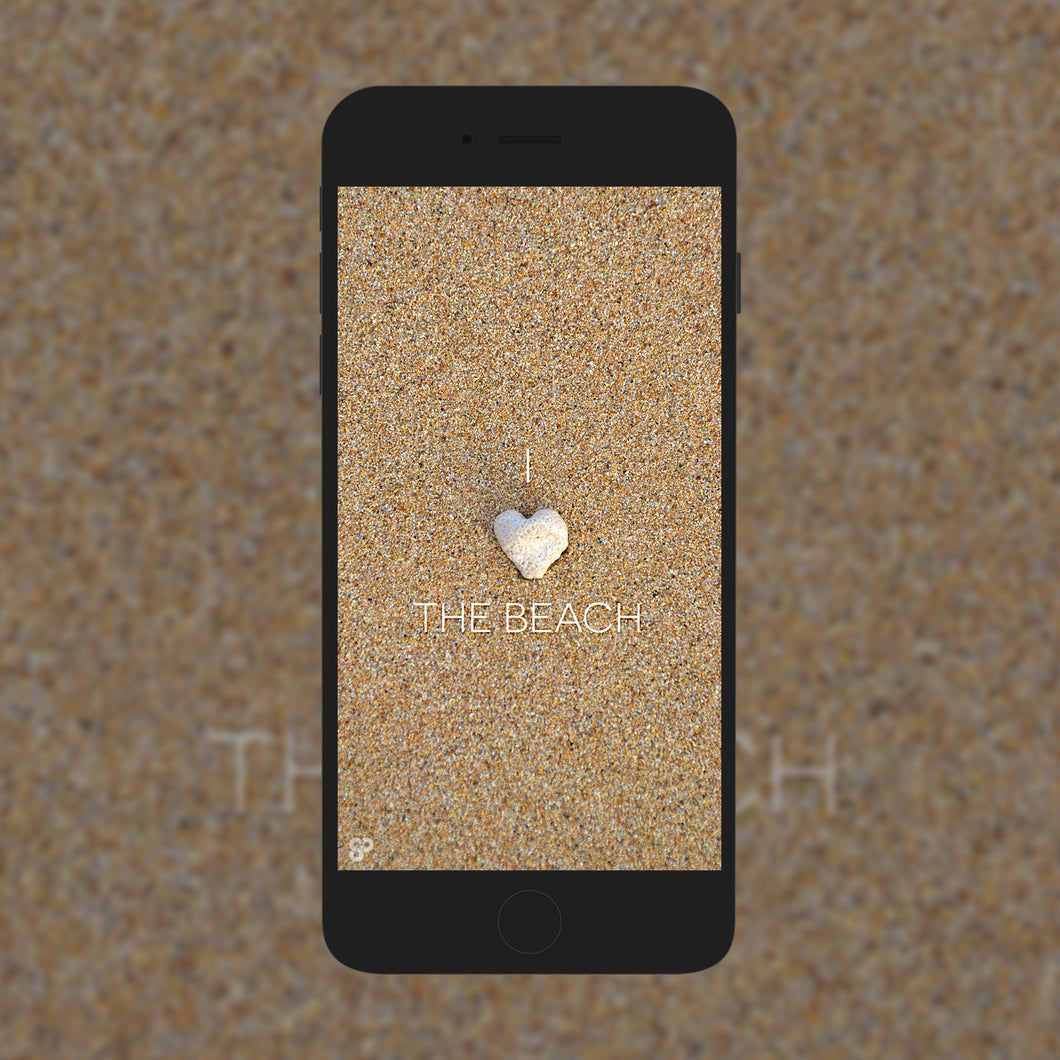 I Heart The Beach - Phone Wallpaper