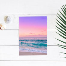 Ocean Dreams - Art Print - 8x10 11x14 16x20 24x36 - The Salty Pineapple Shop - Hawaii Waikiki Surf Sunset Waves Wall Art Home Decor Tropical Beach Colourful House Interior Photography Poster Modern Coastal Ocean Gift Blue Purple Pink Sea Turquoise Fun Happy Summer Relaxing Calm