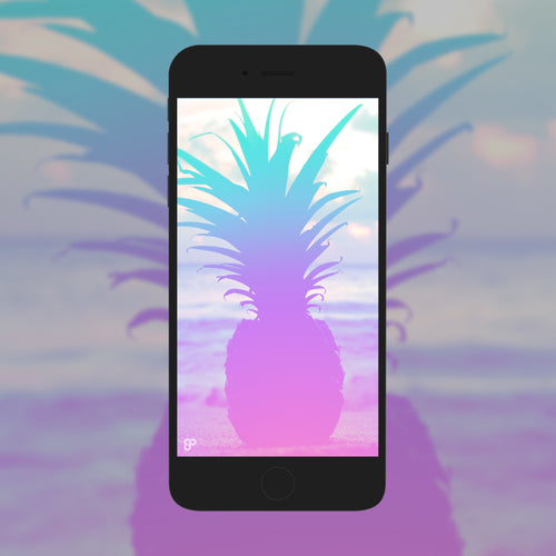 Pastel Pineapple - Phone Wallpaper