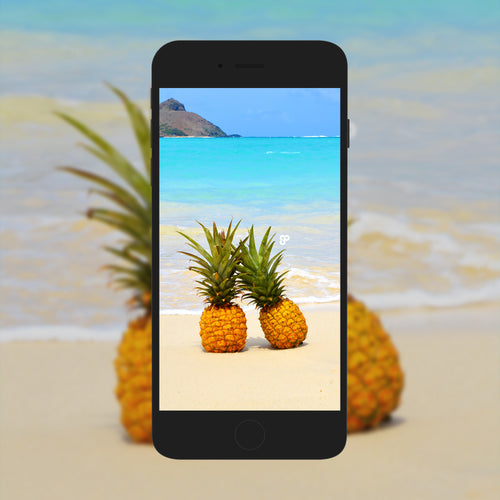 Pineapple Beaches - Phone Wallpaper