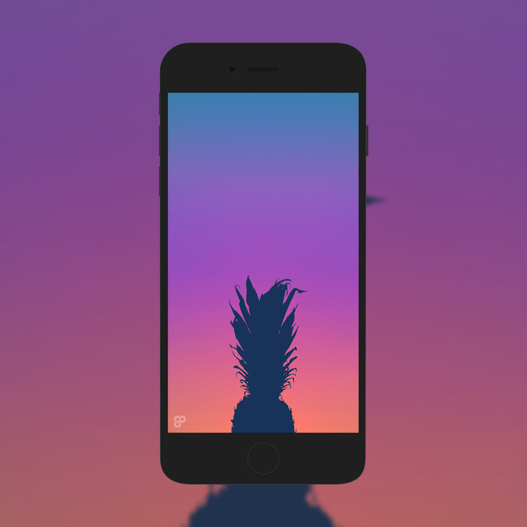 Pineapple Sunset - Phone Wallpaper