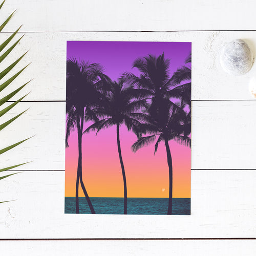 Purple Pink Palms - Art Print