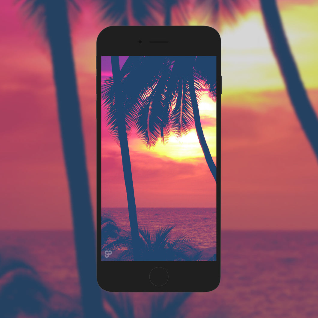 Tropical Nights - Phone Wallpaper