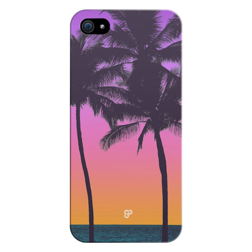 Purple Pink Palms - iPhone Case