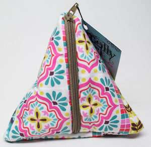 Petite Pyramid Bag - Moroccan Tiles