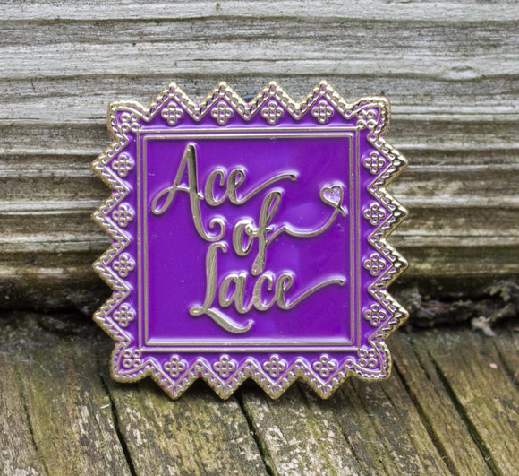 Ace of Lace Enamel Pin