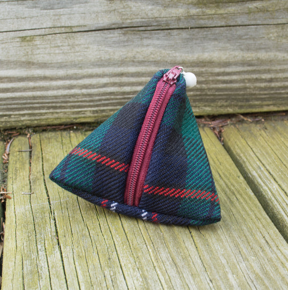 Petite Pyramid Bag - Scottish Tartan