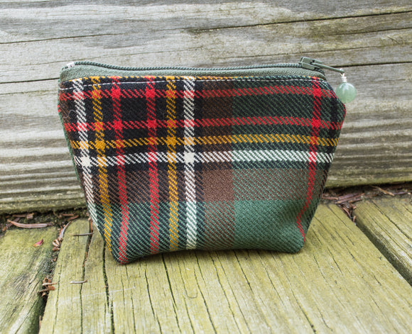 Wee Wedge Bag - Scottish Tartan - Notions Pouch
