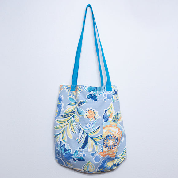 Humble Handmade Tote Bag - Light Blue Floral