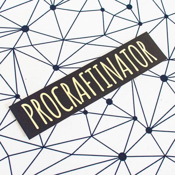 Procraftinator Super Sticker
