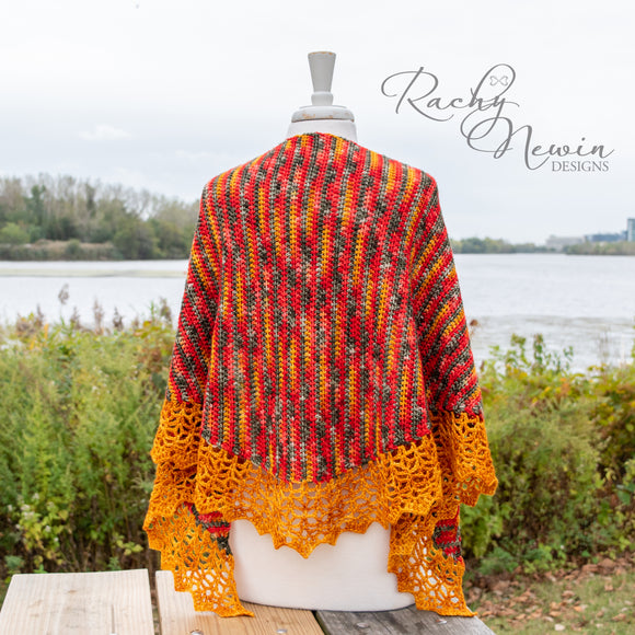Bonfire Shawl - A Pattern From Rachy Newin Designs