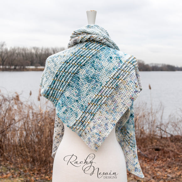 Frozen Waterfall Shawl - A Pattern From Rachy Newin Designs