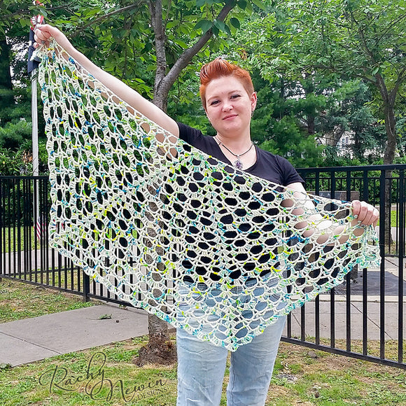 Semicolon Shawl - A Pattern From Rachy Newin Designs