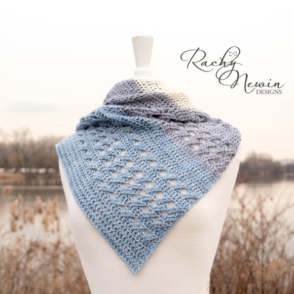 With A Twist Shawl - A Pattern From Rachy Newin Designs